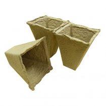 20 x 6cm Square Peat Free Pots