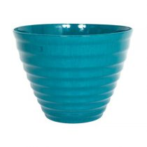 Vale Planter with Saucer Teal