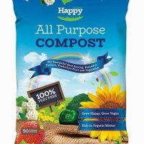 Happy PEAT FREE All Purpose Compost 50L