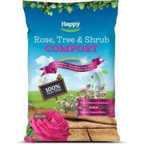Happy PEAT FREE Compost Rose, Tree Shrub 50L